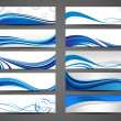 Abstract creative header set — Stock Vector #9721893