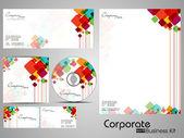 Identidade corporativa profissional kit ou kit de negócios. — Vetorial Stock