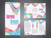 Professional business catalog template or corporate 3 fold broch — Vector de stock