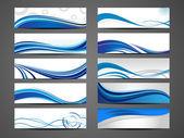 抽象的な創造的なヘッダー セット — ストックベクタ