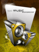 Yellow music background,for more music products please visit Our — Stock Vector