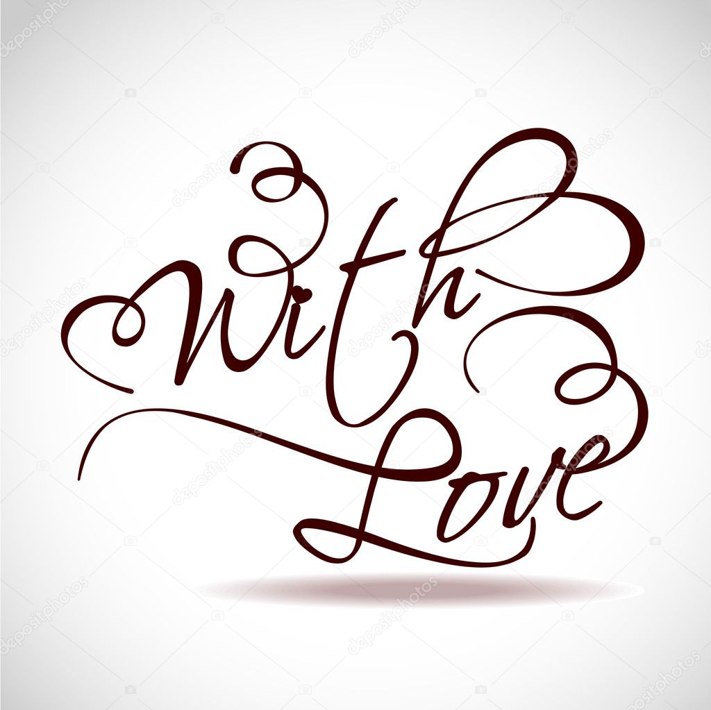 Vector illustration of stylish text with love. — Stock Vector #9762608