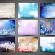 Collection of abstract multicolored backgrounds. Eps 10 vector - Stok Vektr