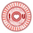 Rubber stamp with love you text . vector. — 图库矢量图片