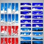 Islamic vector Headers ,Banners set eps10 vector illustration — Stock Vector