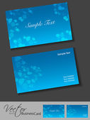 Business card or visiting card set. — Stock Vector