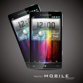 Modern vector touchscreen smart-phone — Stock Vector