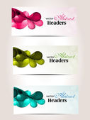 Abstract colorfull headers set of three. — Stock Vector