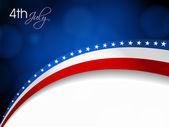 4 de fondo de día de la independencia de julio. — Vector de stock