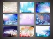 Collection of abstract multicolored backgrounds. Eps 10 vector — Stock Vector
