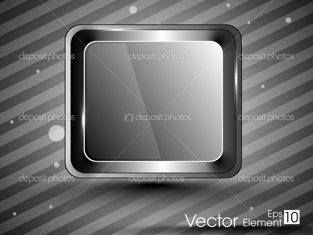 Vector illustration of shiny element with graceful background for Web Icons, also can be use as sticker, tag or banner, EPS 10. — Stock Vector #9940326