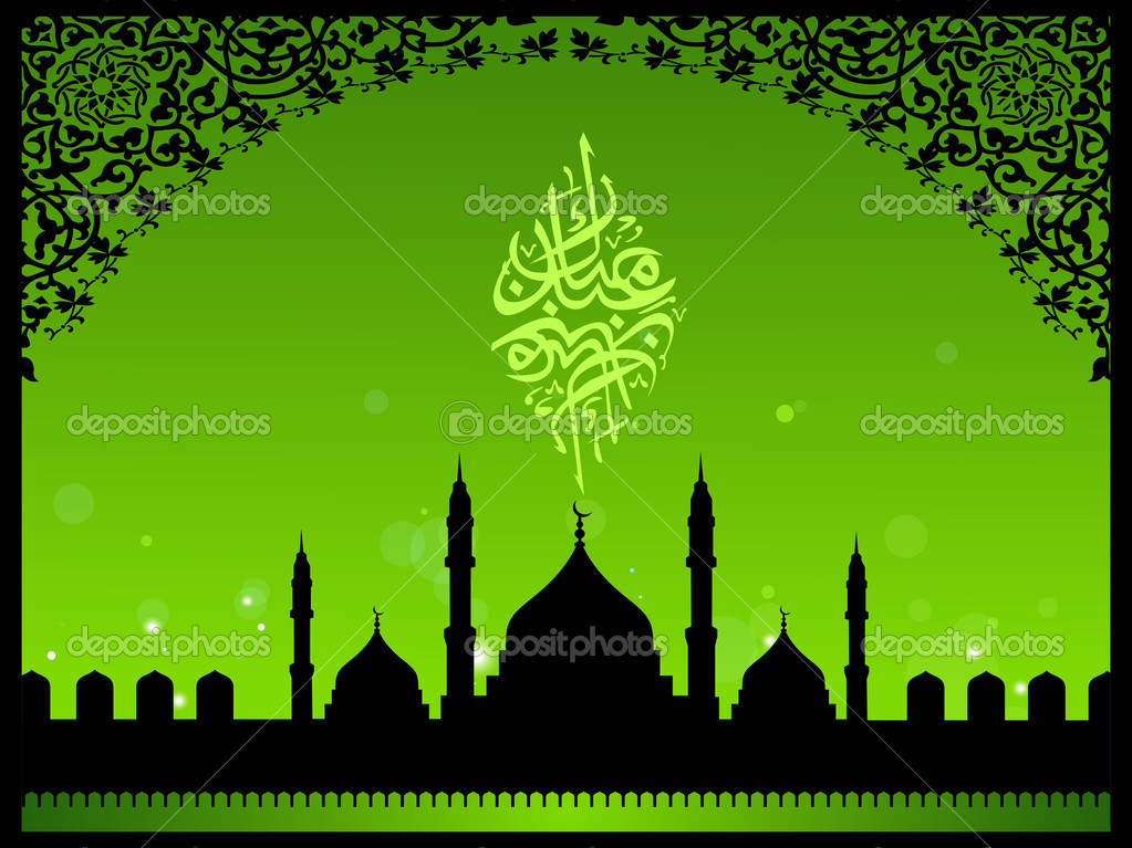 Mosque night backgrounds vector 03 - Vector Background free download