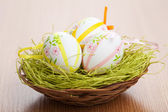 Easter eggs in bowl — Stock Photo