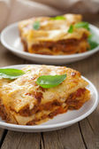 Classic lasagna bolognese — Stock Photo