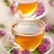Herbal tea and clover flowers — Stock Photo #8899984