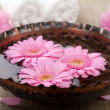 Flowers in bowl for aromatherapy - Foto Stock