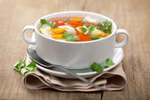 Chicken soup with vegetables — Stockfoto
