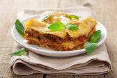 Classic lasagna bologneseclassic lasagna bolognese — Stock Photo