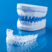 Individual tooth tray for whitening — Stock Photo