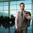 Man with a briefcase — Stock Photo