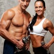 Athletic man and woman - Foto Stock