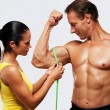 Athletic man and woman - Stock Photo