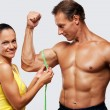 Athletic man and woman — 图库照片