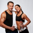 Athletic man and woman — Stock Photo #10204318