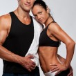 Beautiful athletic couple - Stock Photo