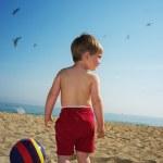 Baby boy on a beach — Stock Photo