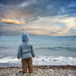 Child on a beach — Stock Photo