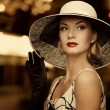 Woman in hat - Stockfoto