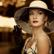 Woman in hat - Stock Photo