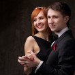 Beautiful smiling couple — Stock Photo