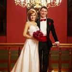 hermosa pareja en el día de su boda — Foto de Stock