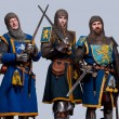 Medieval knights — Stock Photo