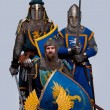 Medieval knights — Stock Photo #10204873