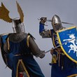 Two medieval knights fighting. — Stock Photo #10204962