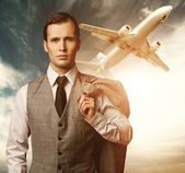 Businessman traveling concept — Stock Photo