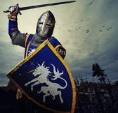 Ortaçağ şövalyesi — Stok fotoğraf