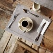 Table setting in cafe. - Stockfoto