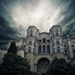 Stormy sky over The Cathedral of the Incarnation, Malaga, Spain. — Stock Photo