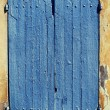 Old blue window shutters. — Stock Photo