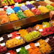 Stock Photo: Sweets on market stall in LBoqueria, Barcelona