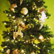 Stock Photo: Decorated Christmas tree.