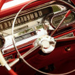Vintage car interior. - Stok fotoraf