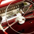 Stock Photo: Vintage car interior.
