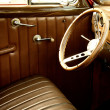Vintage car interior. - Foto de Stock