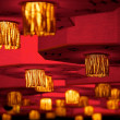 Asian traditional red lanterns. - Stock Photo