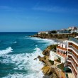 View from Balcon de Europa in Nerja - Stock Photo
